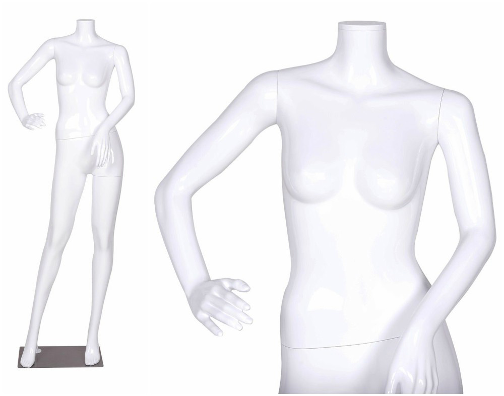 ZM-507 - Gianna - Glossy White Headless Abstract Female Mannequin