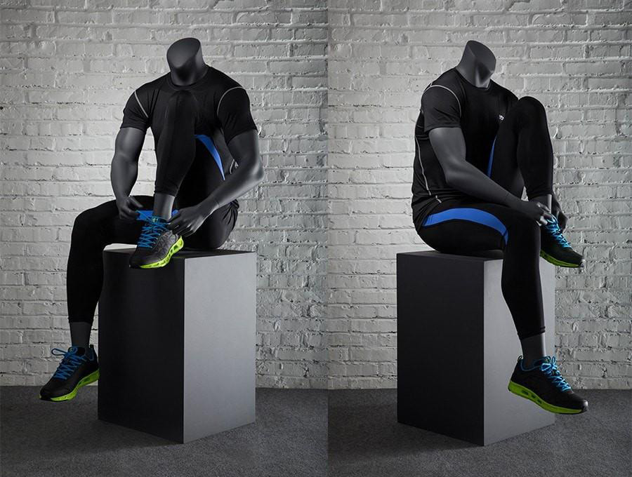 ZM-512 - Colton - Sitting Athletic Sports Headless Male Mannequin