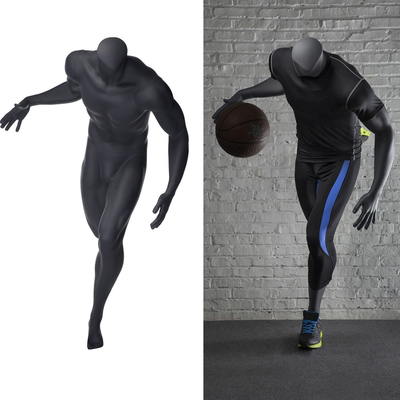 ZM-515 - Cameron - Carbon Gray Headless Sports Mannequin
