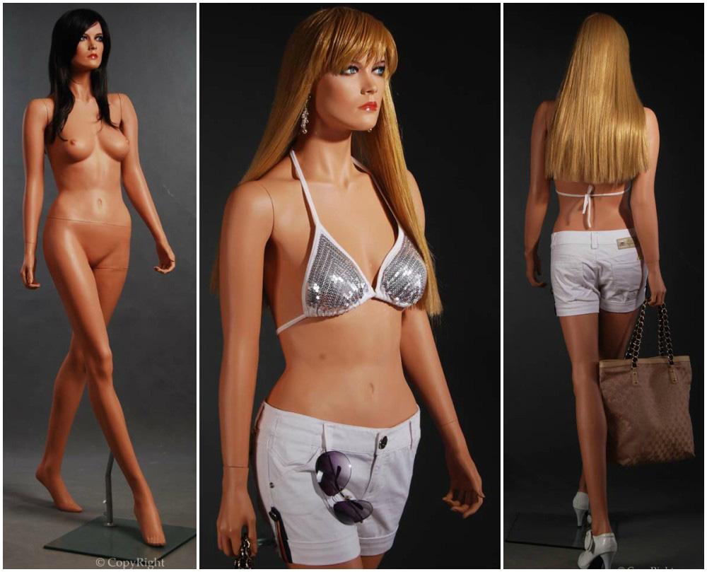 ZM-815 - Amy - Sexy Flesh Tone Slim Realistic Female Mannequin