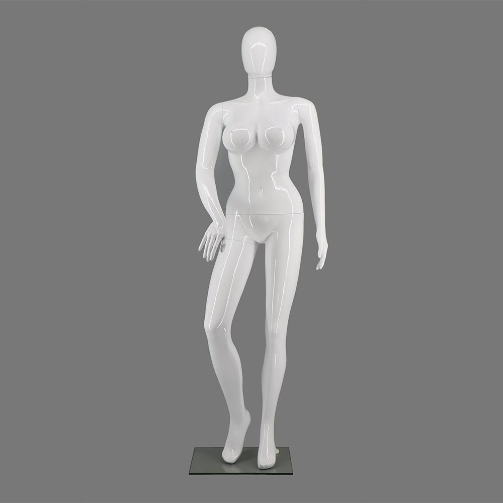 ZM-912 - Kenzie - Abstract White Female Plus Size Mannequin