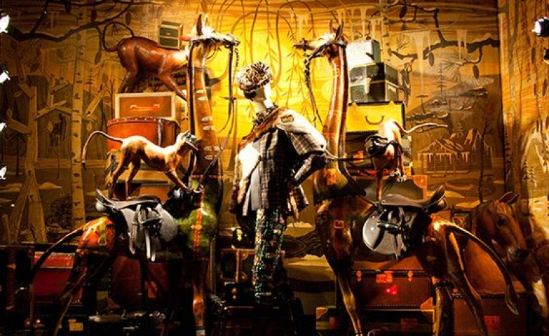 Various holiday window displays for inspiration for the holiday season, seen at Bergdorf Goodman in New York.