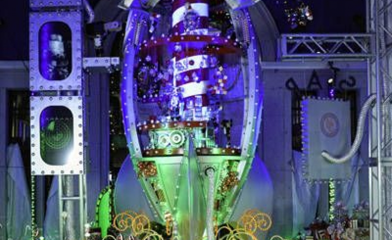 Christmas window display that even allows kids to interact with it, made by Neiman Marcus in Dallas.