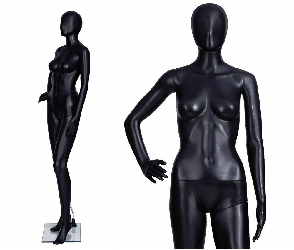 ZM-2904 - Kylee - Abstract Black Tall Female Mannequin