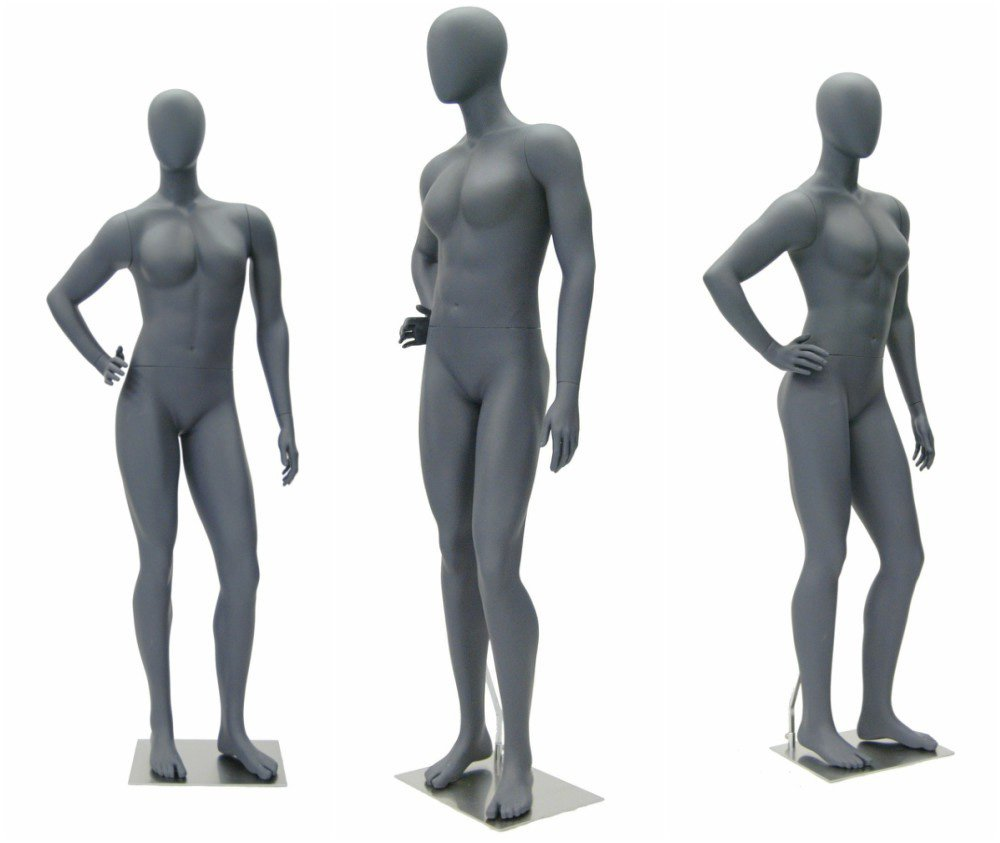 ZM-2905 - Lucia - Abstract Gray Tall Shop Mannequin
