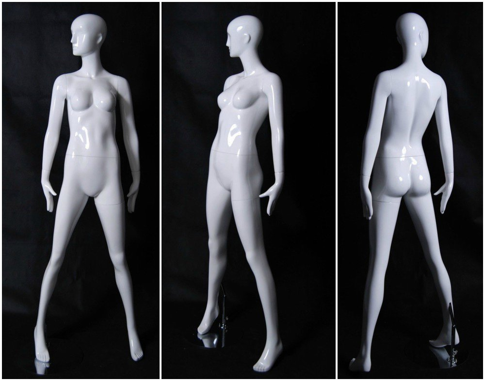 ZM-2911 - Giselle - Abstract White Glossy Tall Female Mannequin