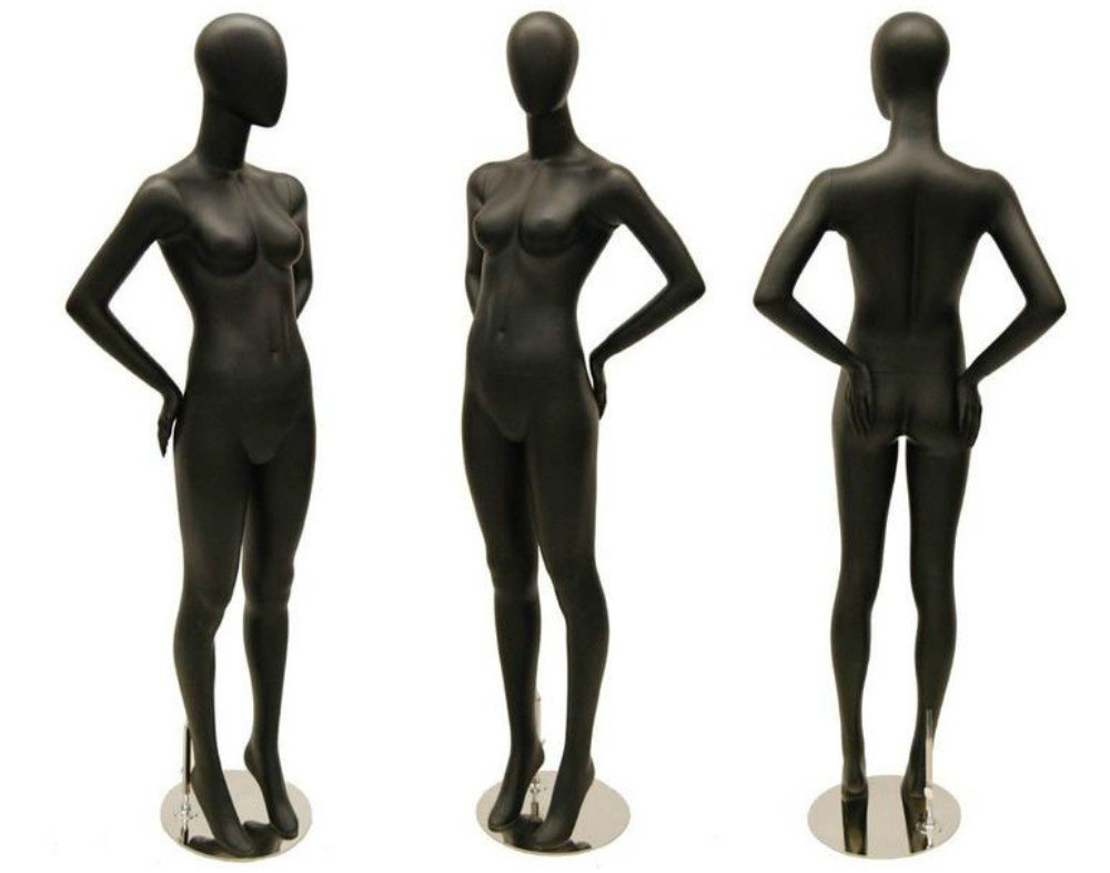 ZM-2912 - Kate - Matte Black Abstract Tall Female Mannequin